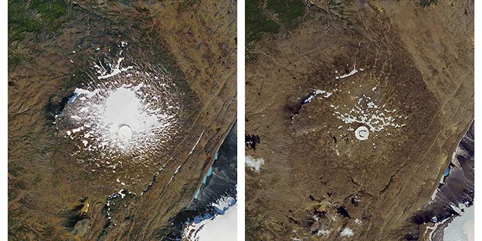"""Der Okjökull-Gletscher in Island wurde offiziell für """"tot"""" erklärt"""