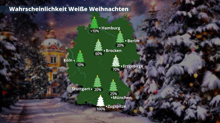 Schneeprognose Weihnachten 2019.Weisse Weihnachten 2019 So Sieht Die Wetterprognose Aus