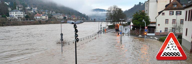 Achtung! Überflutungen drohen!