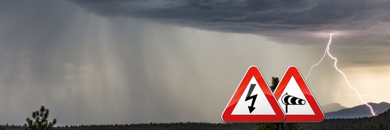 Gewitter mit Sturm und Hagel zum Wochenstart