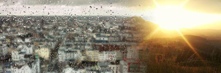Zwischen Regenklatsche und Sonnenschein