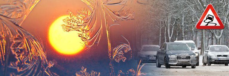 Schneeglätte im Süden - Sonnenglück im Norden