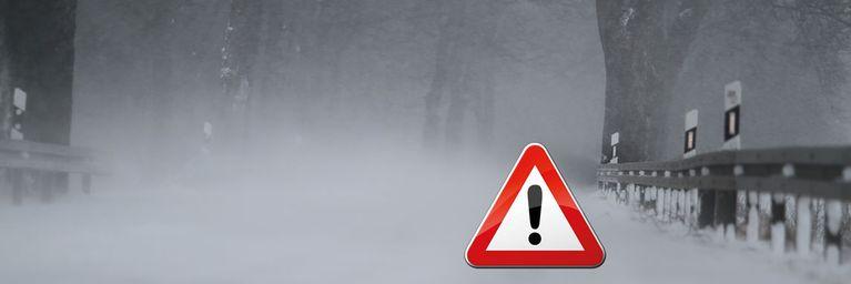Vorsicht! Schnee, Glätte und schwerer Sturm