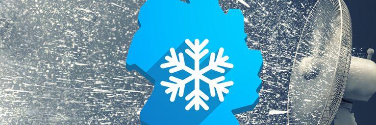Arktische Eisluft bläst über Deutschland