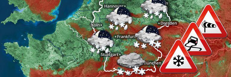 Sturm, Schnee und Glätte! Hier wird es jetzt kritisch!