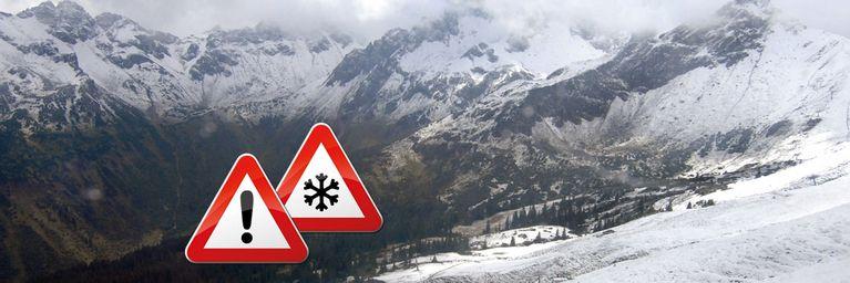 Fast pausenlose Regen- und Schneefälle an Alpen