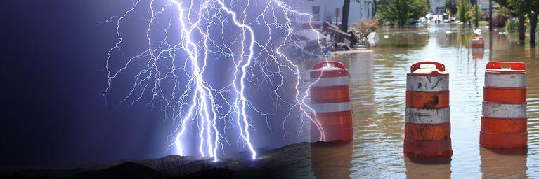 Lokale Überflutungen möglich!
