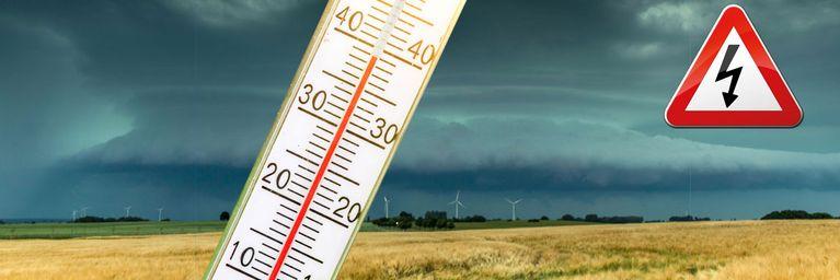 Zwischen 39 Grad und unwetterartigen Gewittern