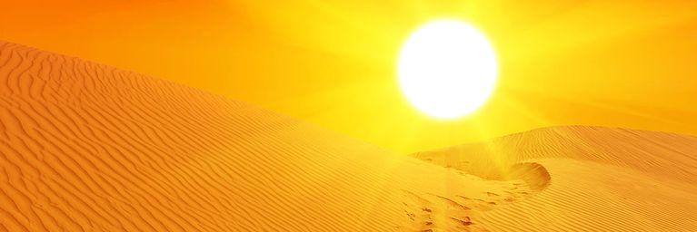 Wüstenluft bringt Hitze und Saharastaub