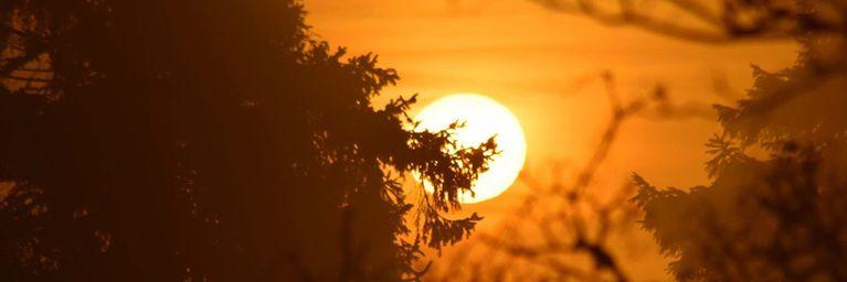 Astronomischer Herbstanfang mit viel Sonne im Süden