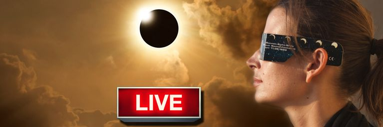 JETZT LIVE: Totale Sonnenfinsternis