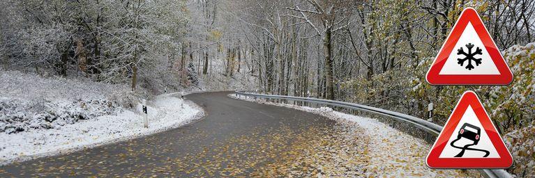 Glättegefahr! Schnee und Laub machen Probleme!
