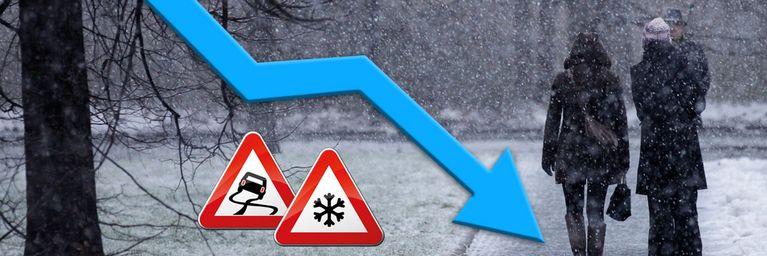 Absturz! Schnee bis in tiefere Lagen!