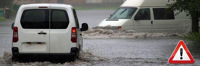Dauerregen und Gewitter! Überflutungsgefahr!