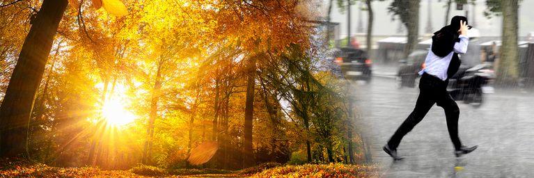 Goldener Herbst vs. Regenfront