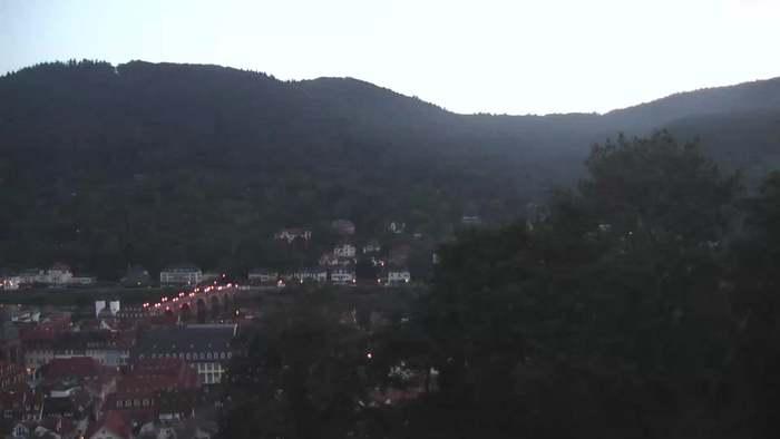 HD Live Webcam Heidelberg - Schlossberg - Altstadt und Alte Brücke