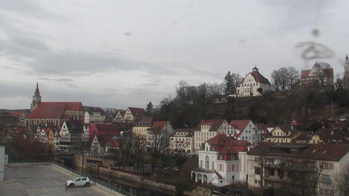HD Live Webcam Tübingen - Stocherkahn - Bootshaus am Neckar