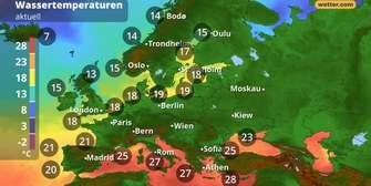 Wetterfilm Europa: Strömungsfilm und Temperatur