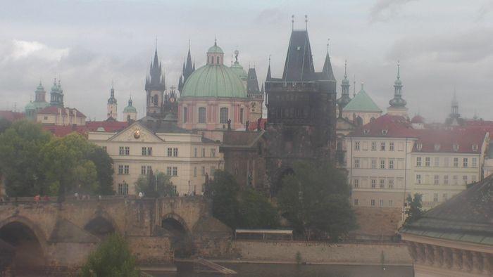 HD Live Webcam Prag - Karlsbrücke - Hotel Kampa Garden