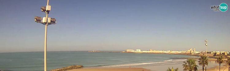Livecam Cadiz - Beach Santa María del Mar