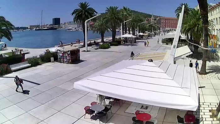 HD Live Webcam Baška Voda - Saint Nikola and beach