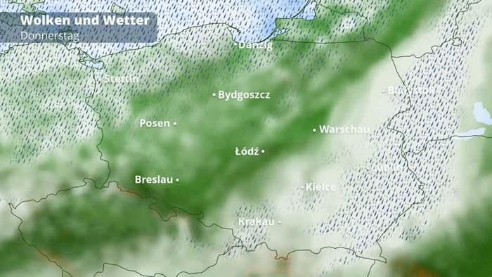 Polen-, Tschechien- und Slowakei-Wetter
