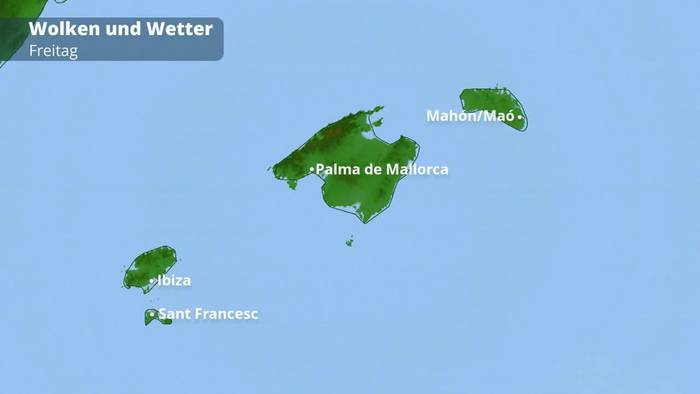 Unwetter Mallorca Karte.Mallorca Menorca Und Ibiza Wetter