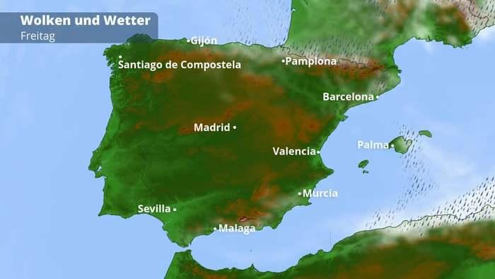 Mallorca Unwetter Karte.Spanien Wetter