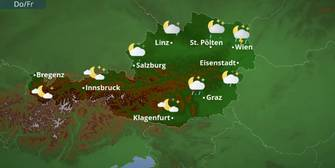 Österreichwetter: Sonne-Regen-Mix mit positiver Tendenz