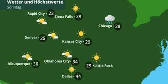 USA-Wetter im Mittleren Westen