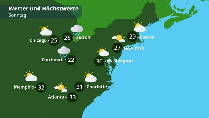 USA-Wetter an der Ostküste