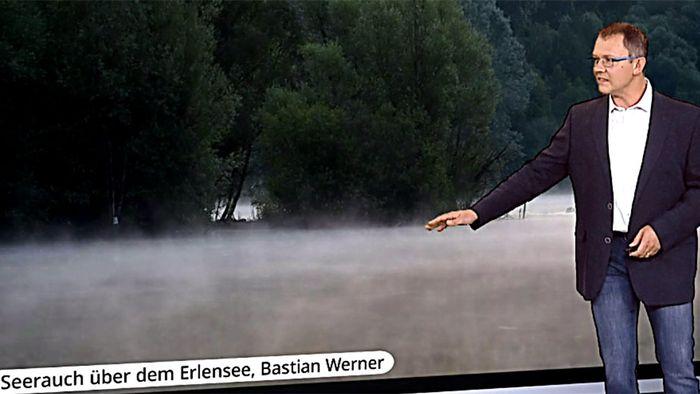 Naturphänomen: Kälte bringt Seen zum Rauchen