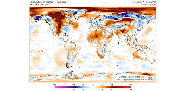 Wetter Nordpol Arktis