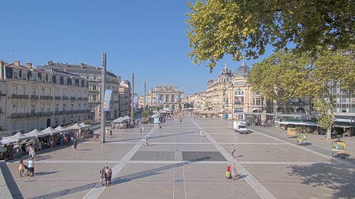 HD Live Webcam Montpellier 03 - Place de la Comédie