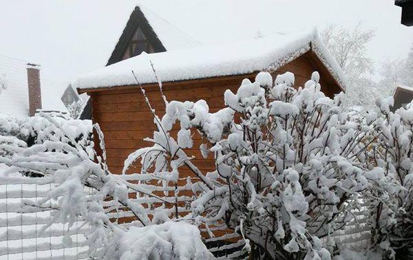 Aprilwetter mit Schneechaos