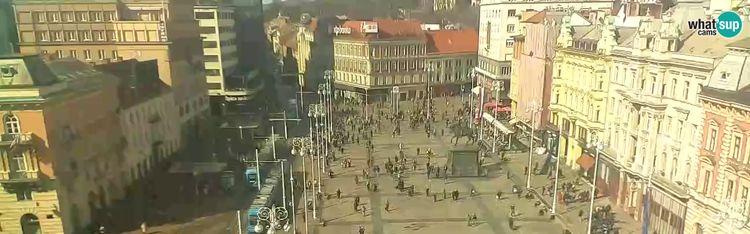 Livecam Zagreb - Ban Jelačić square