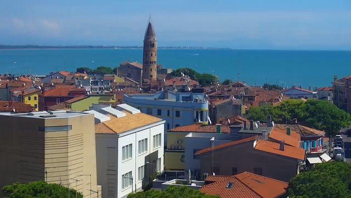 HD Live Webcam Webcam Caorle - Ponente west beach from Hotel Marco Polo