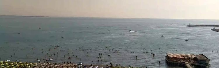 Livecam Webcam Shengjin - the beach from Frojd Hotel