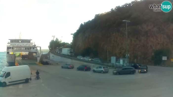 HD Live Webcam Kvarner-Bucht - Insel Cres - Fährhafen Merag