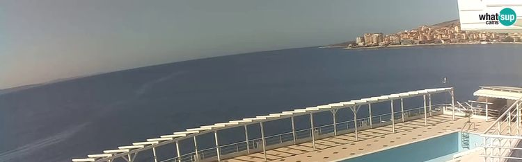Livecam Webcam Saranda - Port and bay - view from hotel Barracuda