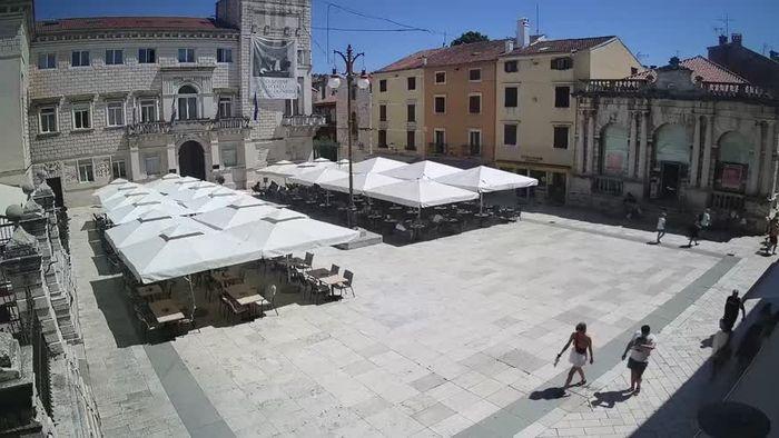 HD Live Webcam Zadar - Volksplatz - Narodni trg