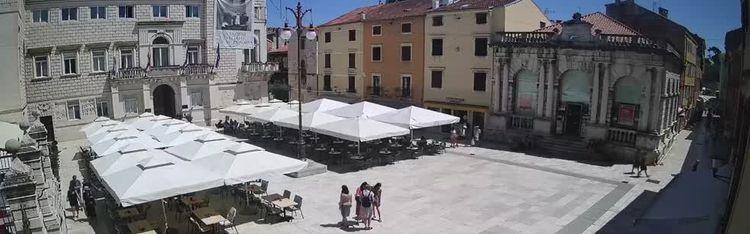 """Livecam Zadar - Narodni trg """"People's square"""""""