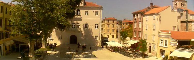 Livecam Zadar - Trg Petra Zoranića
