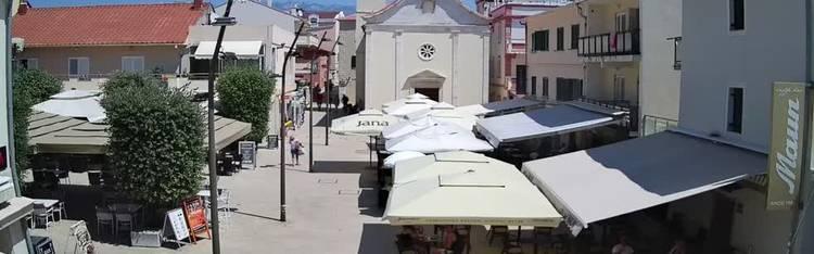 Livecam Novalja - Loža square