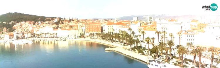 Livecam Split - view of Split riva