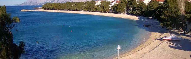 Livecam Promajna -  beach webcam live