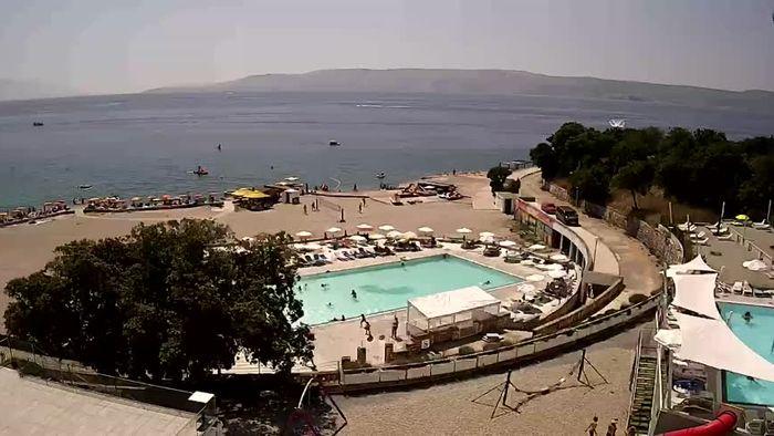 HD Live Webcam Novi Vinodolski - Strand