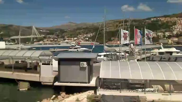 HD Live Webcam Dubrovnik - coast of Lapad  - port of Gruž view