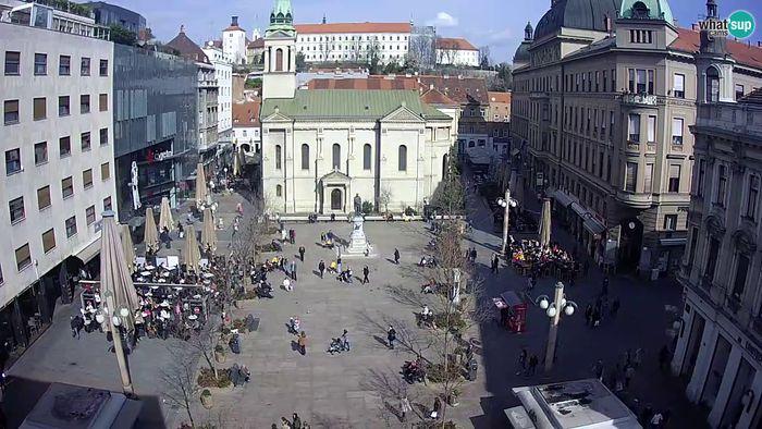 HD Live Webcam Zagreb - Cvjetni trg  square