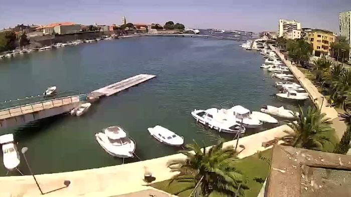 HD Live Webcam Zadar - Rowing club Jadran